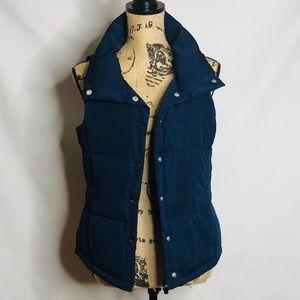 FOREVER 21 women's navy blue puffer vest size S